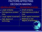 factors affecting decision making