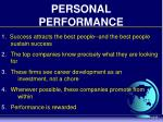 personal performance