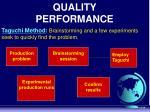 quality performance