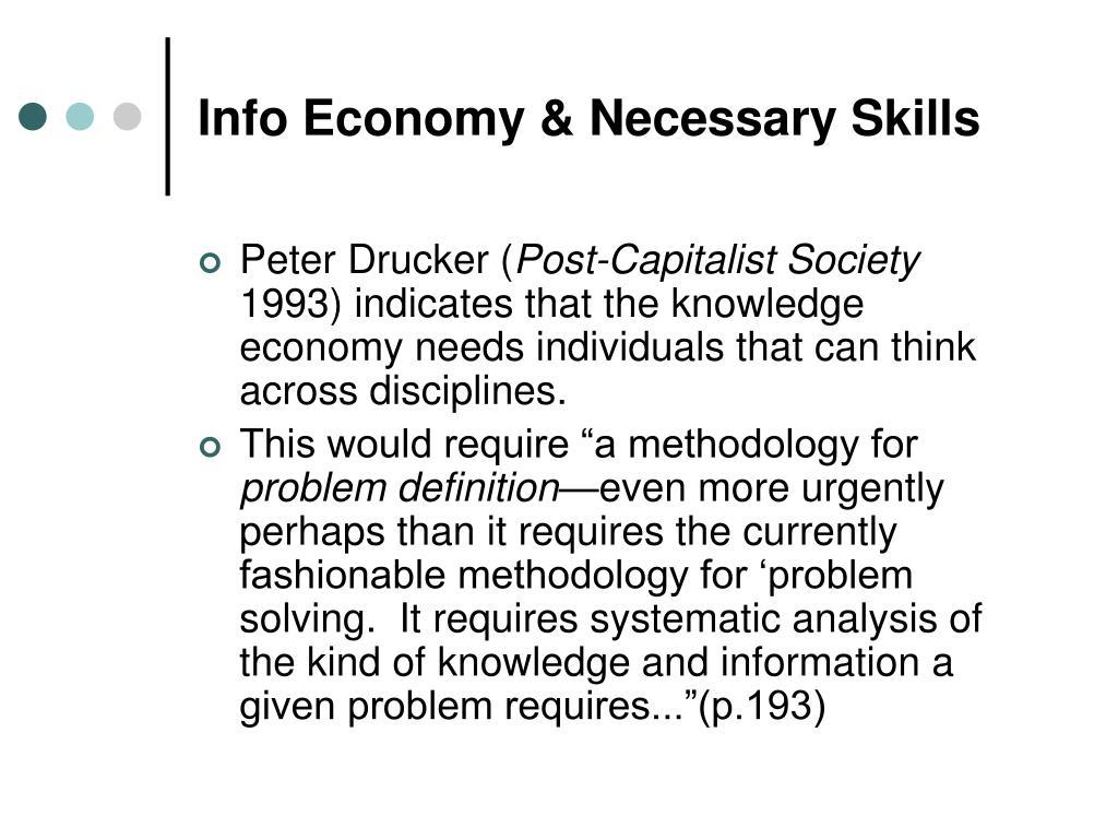 Info Economy & Necessary Skills