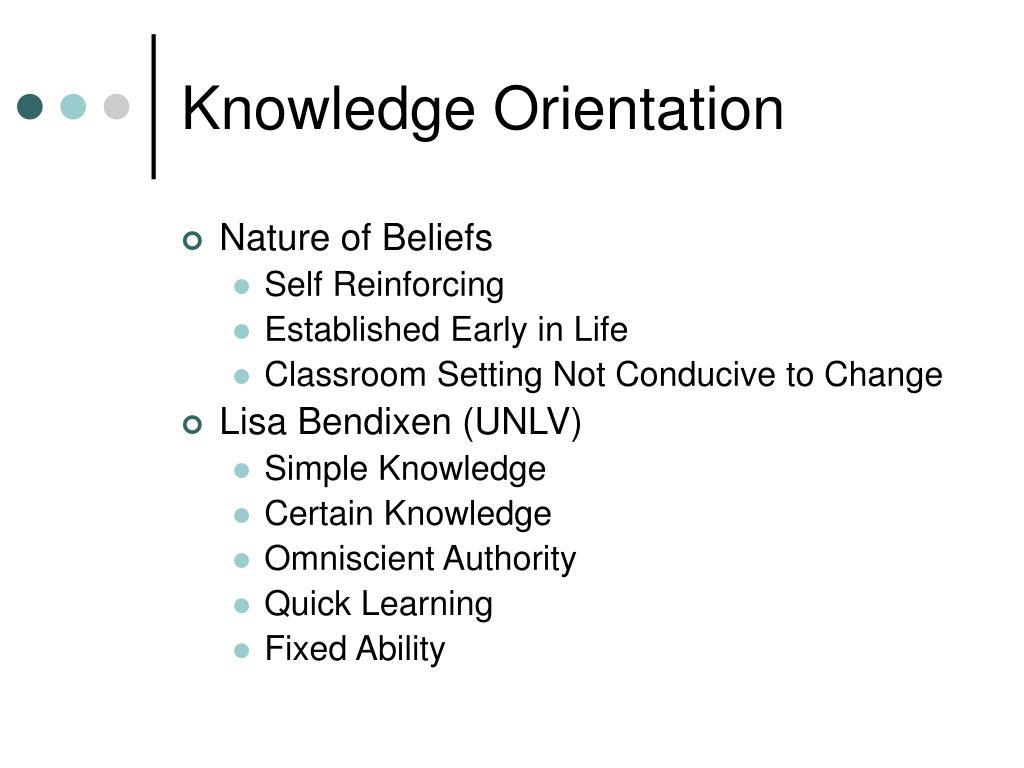Knowledge Orientation