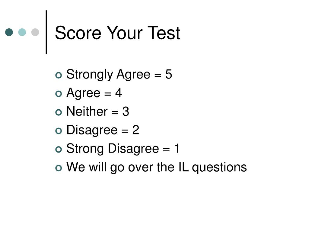 Score Your Test