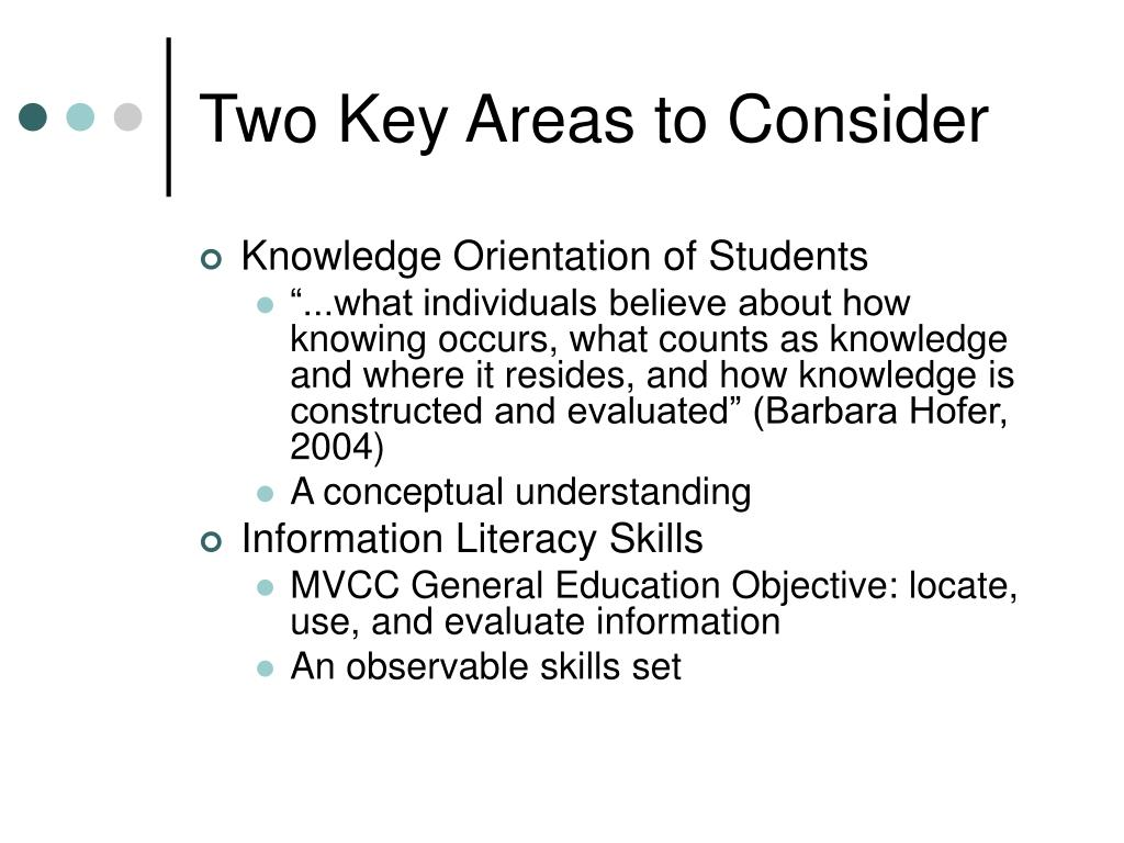 Two Key Areas to Consider