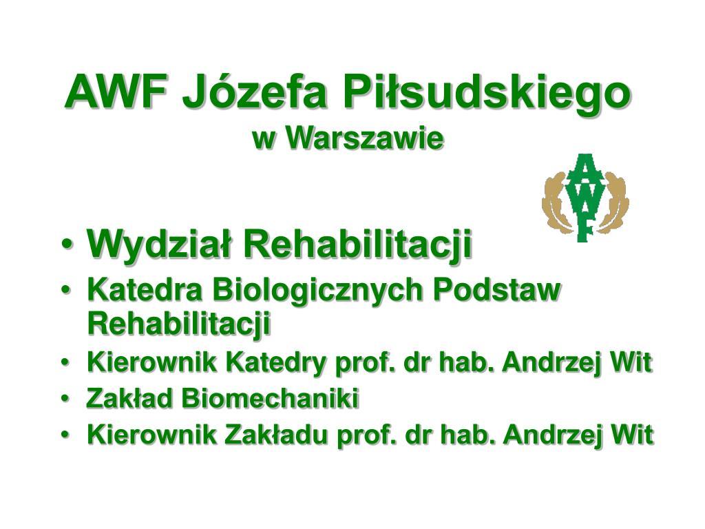 AWF Józefa Piłsudskiego