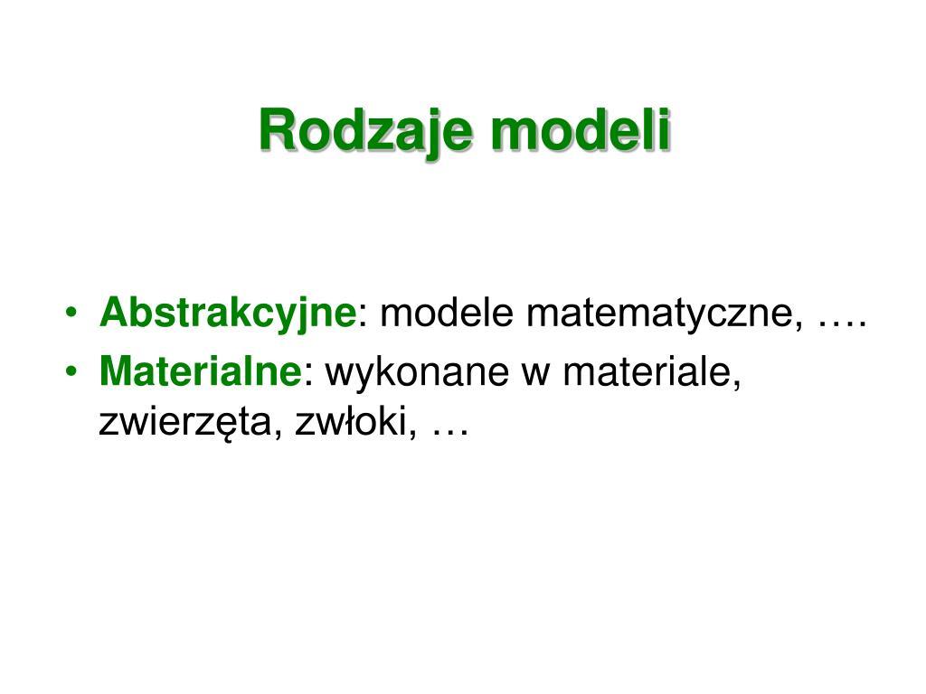 Rodzaje modeli