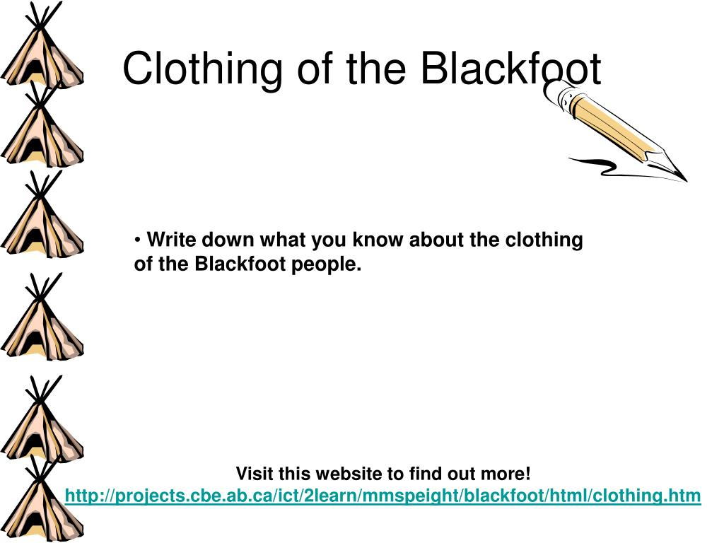 Clothing of the Blackfoot