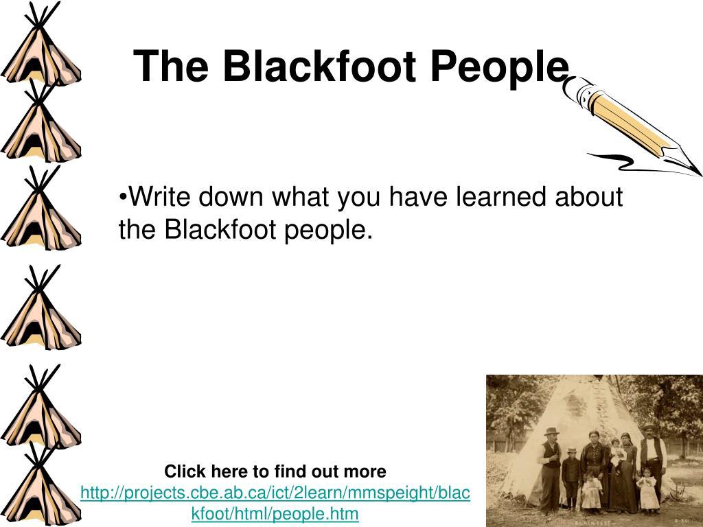 The Blackfoot People