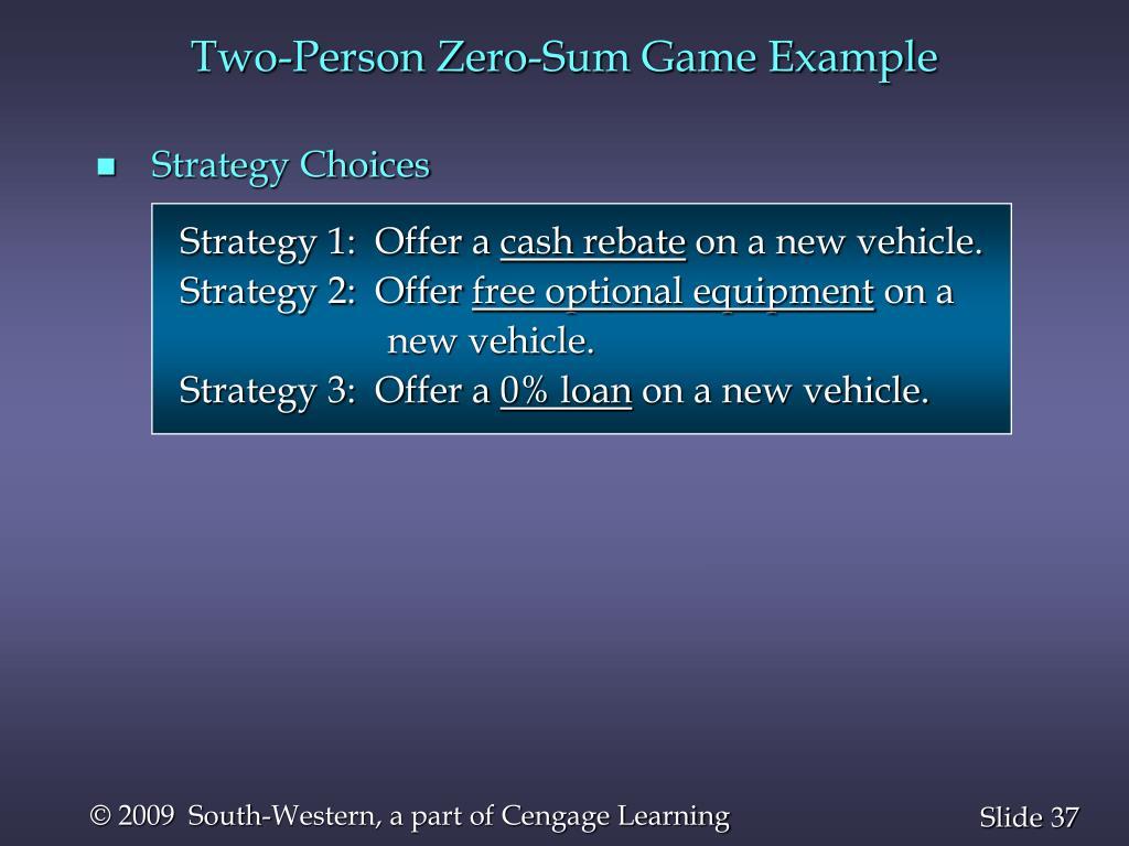 Two-Person Zero-Sum Game Example