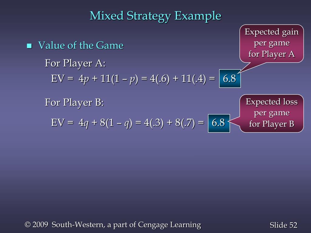 Mixed Strategy Example
