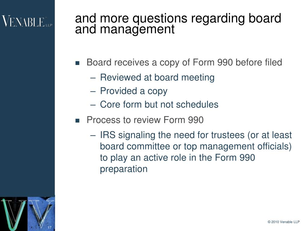 and more questions regarding board and management