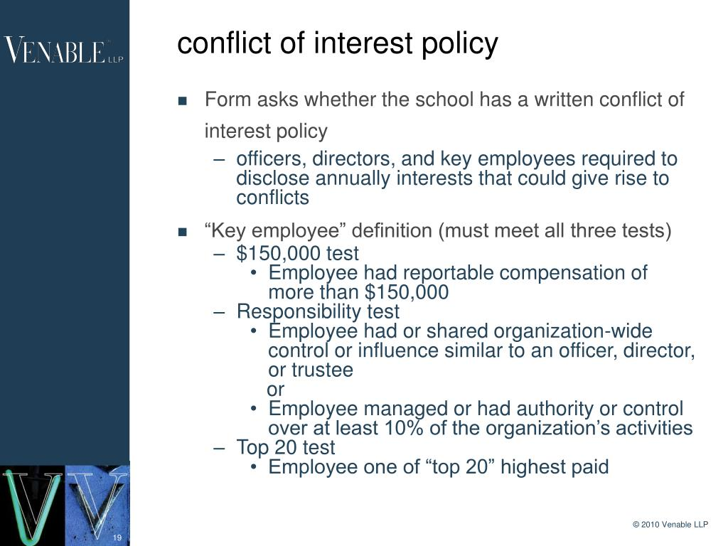 conflict of interest policy