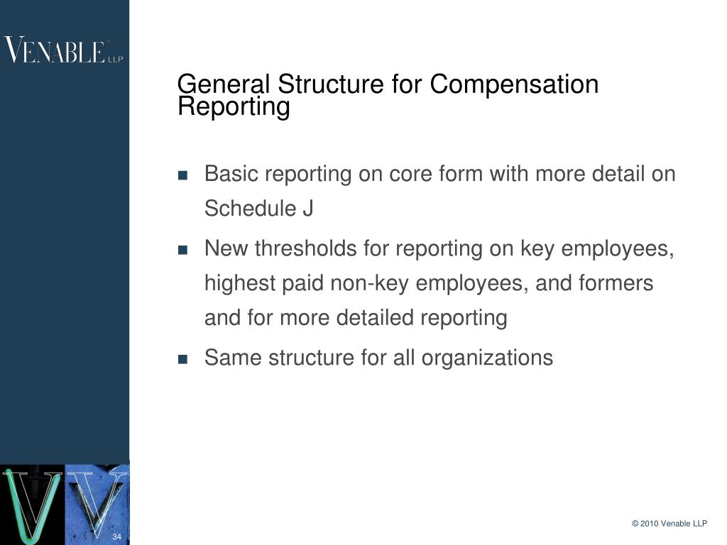 General Structure for Compensation Reporting