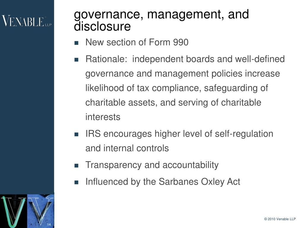 governance, management, and disclosure