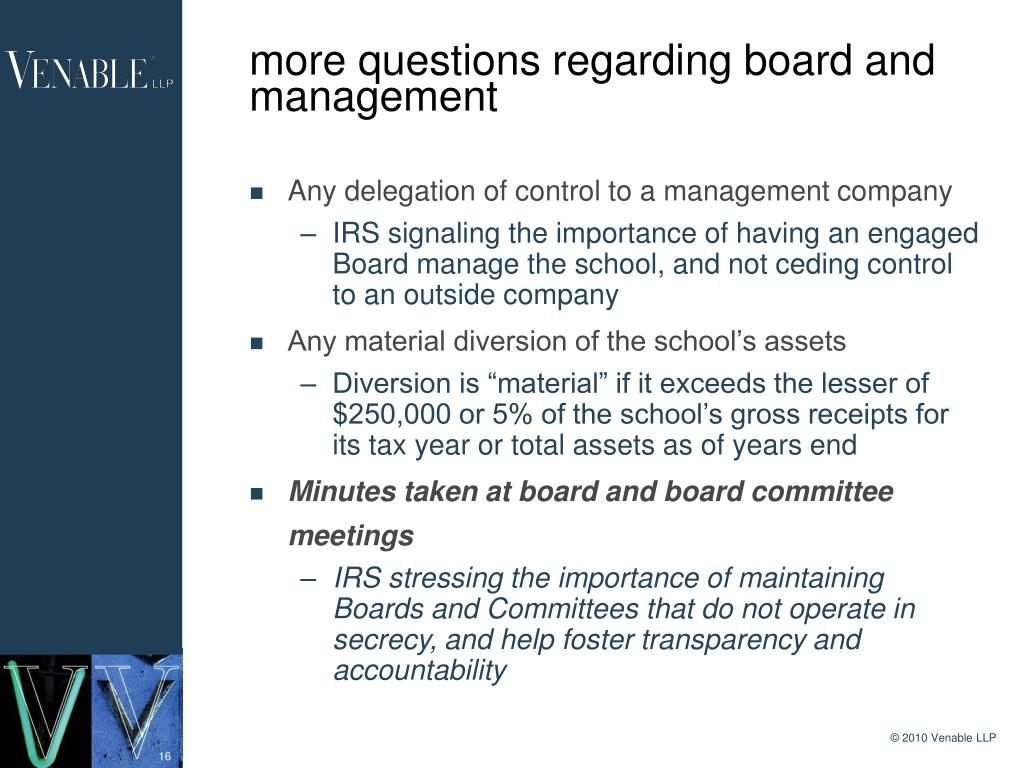 more questions regarding board and management