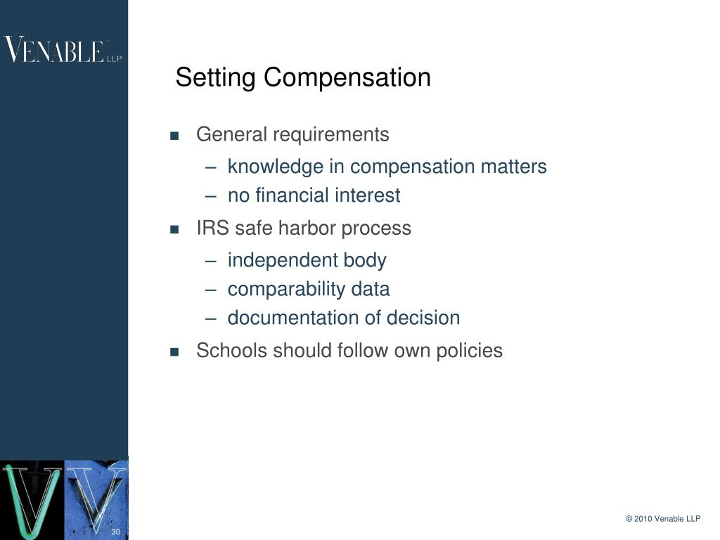 Setting Compensation