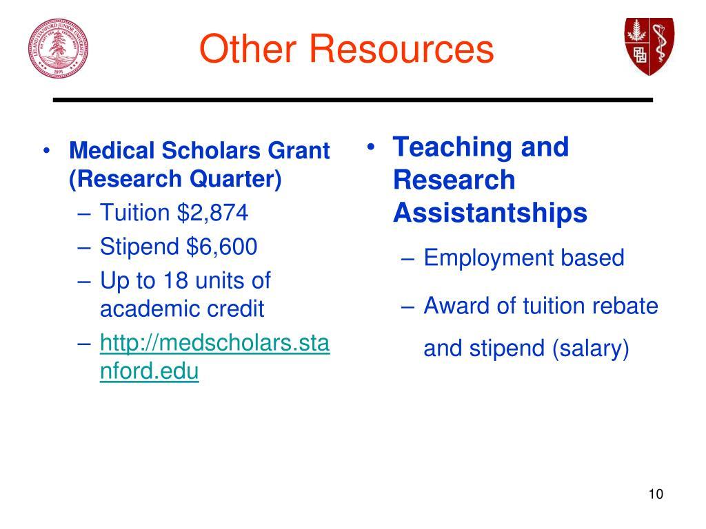 Medical Scholars Grant (Research Quarter)