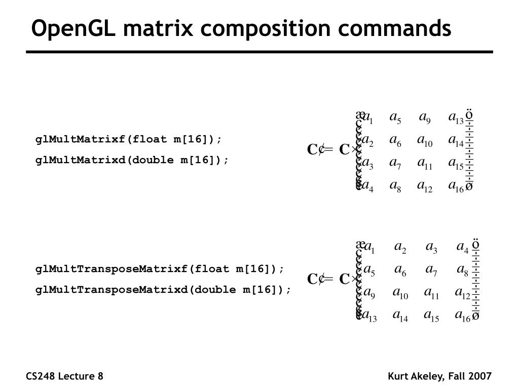 OpenGL matrix composition commands