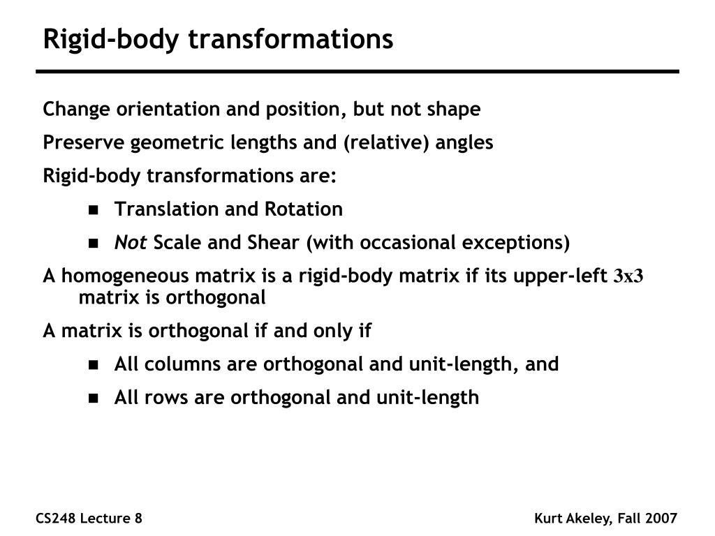 Rigid-body transformations