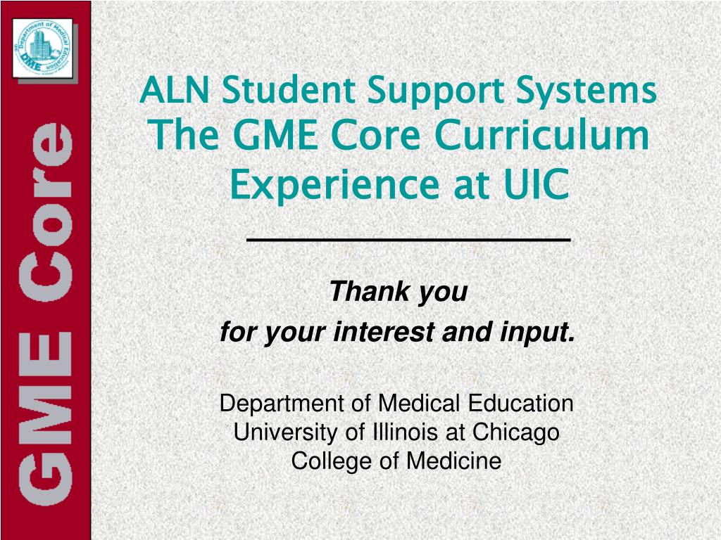 ALN Student Support Systems