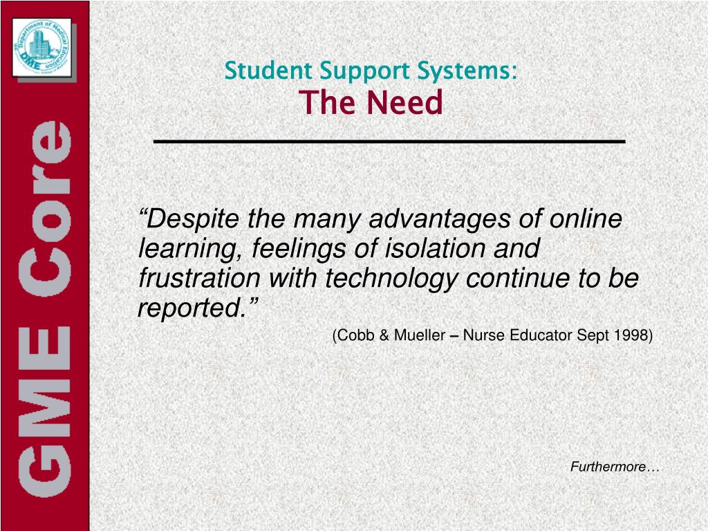 Student Support Systems: