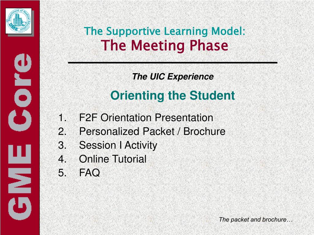 The Supportive Learning Model: