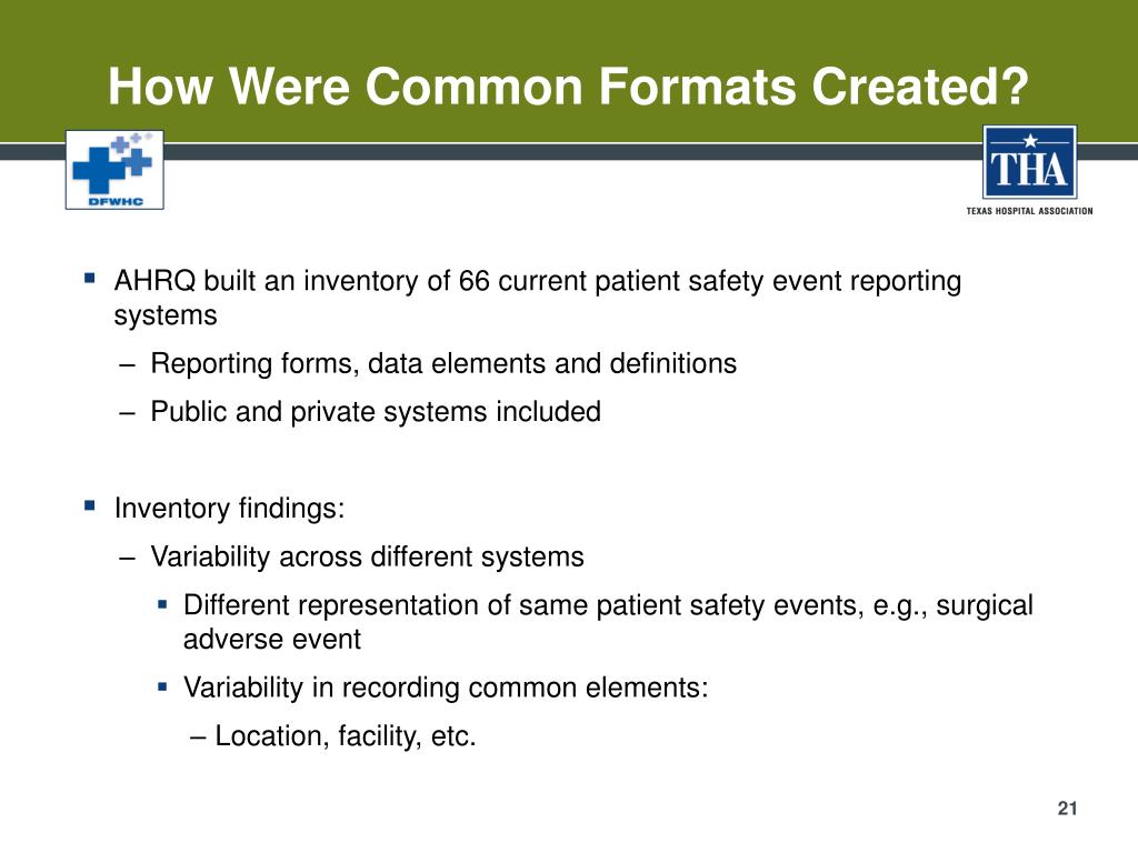 How Were Common Formats Created?