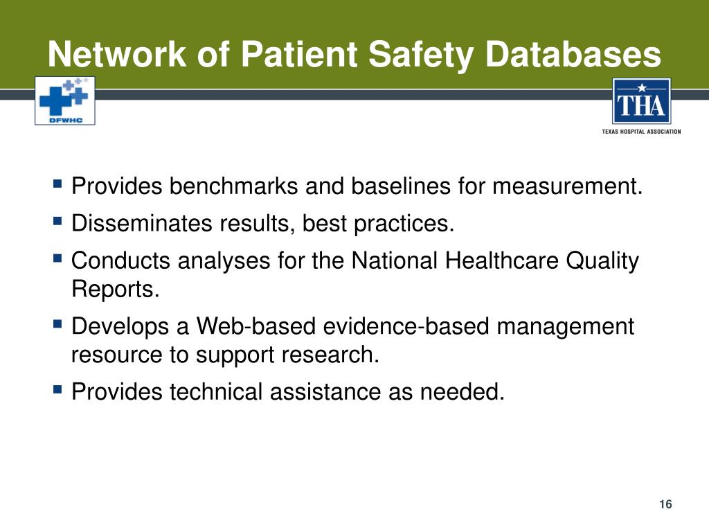 Network of Patient Safety Databases