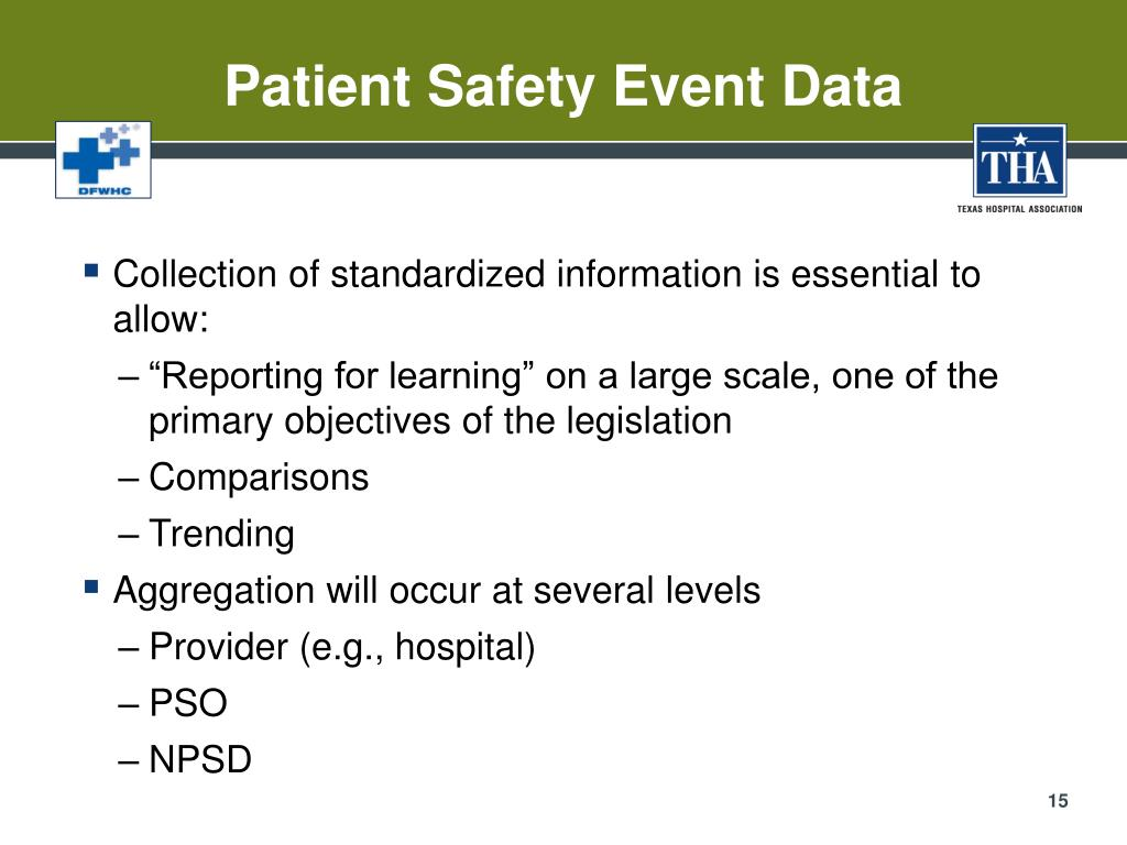 Patient Safety Event Data