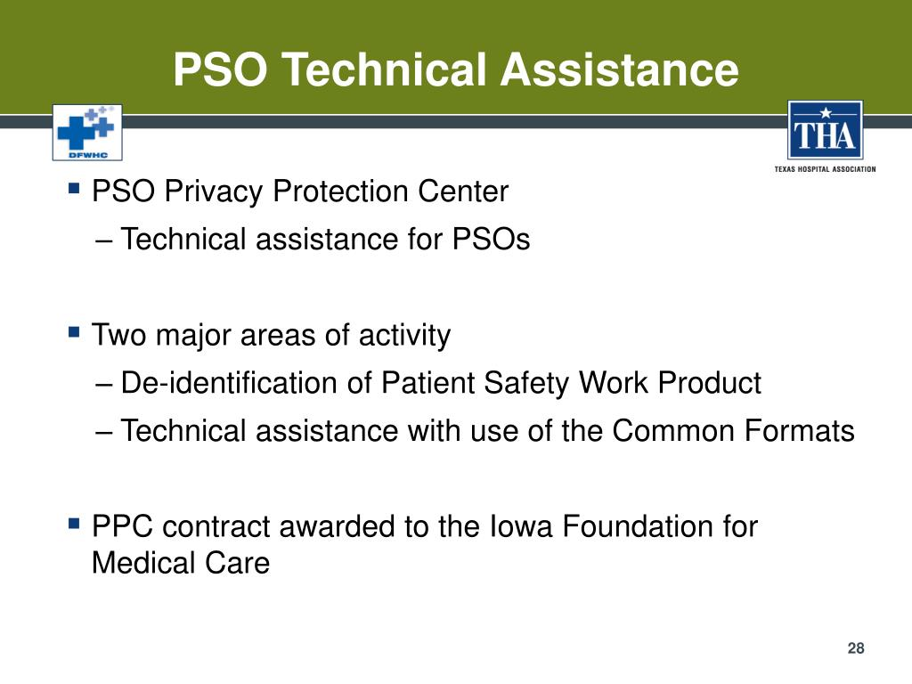 PSO Technical Assistance