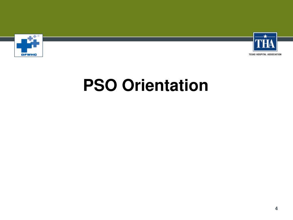 PSO Orientation