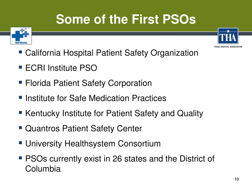 Some of the First PSOs