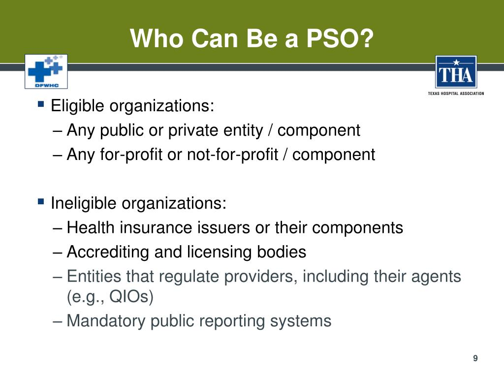 Who Can Be a PSO?
