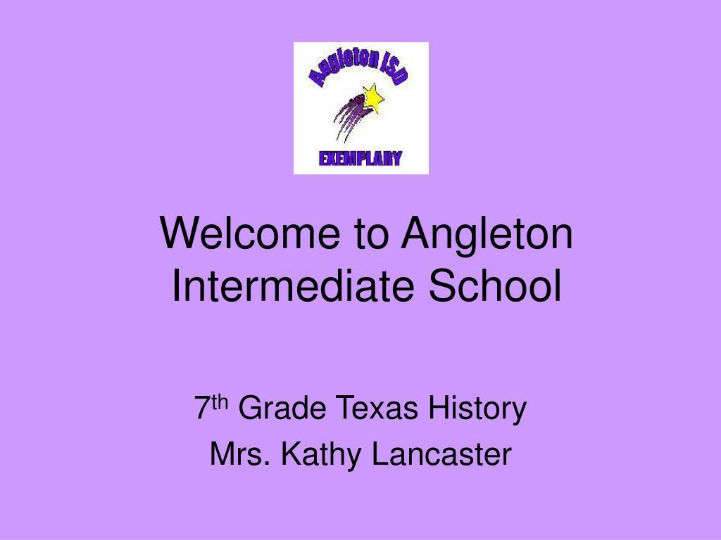 Welcome to Angleton Intermediate School