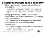 structural changes to the economy
