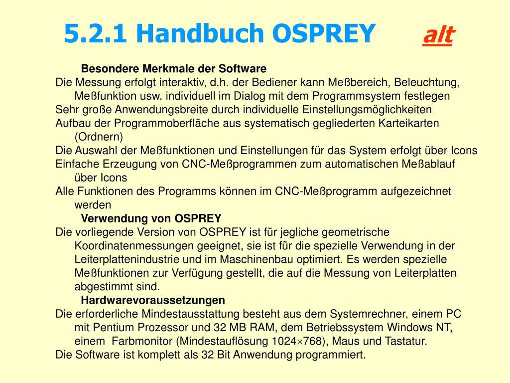 5.2.1 Handbuch OSPREY