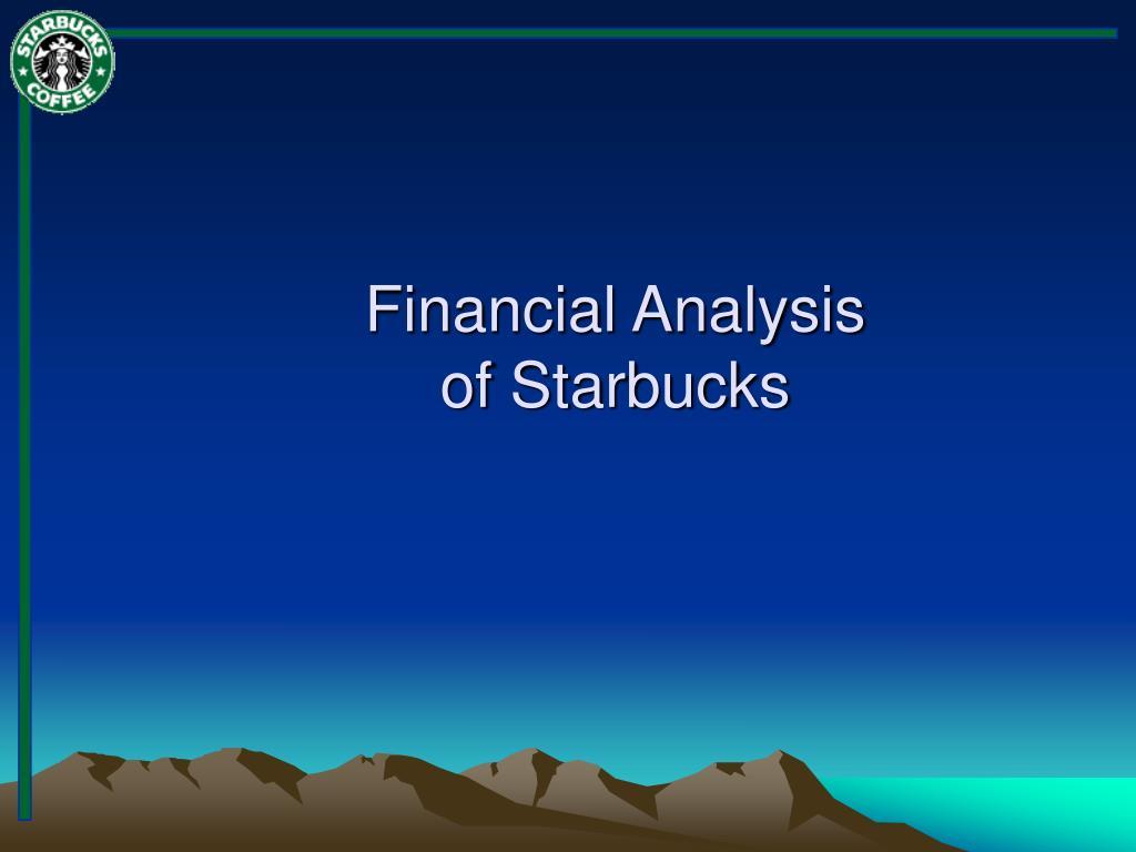 starbuck financial analysis