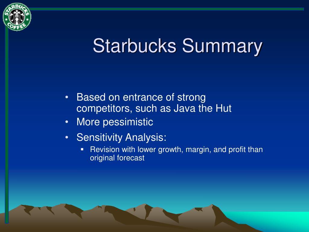 starbucks summary