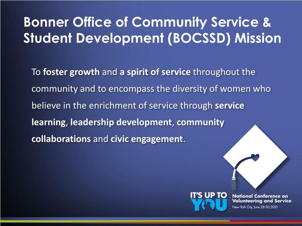Bonner Office of Community Service &