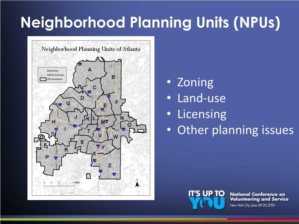 Neighborhood Planning Units (NPUs)