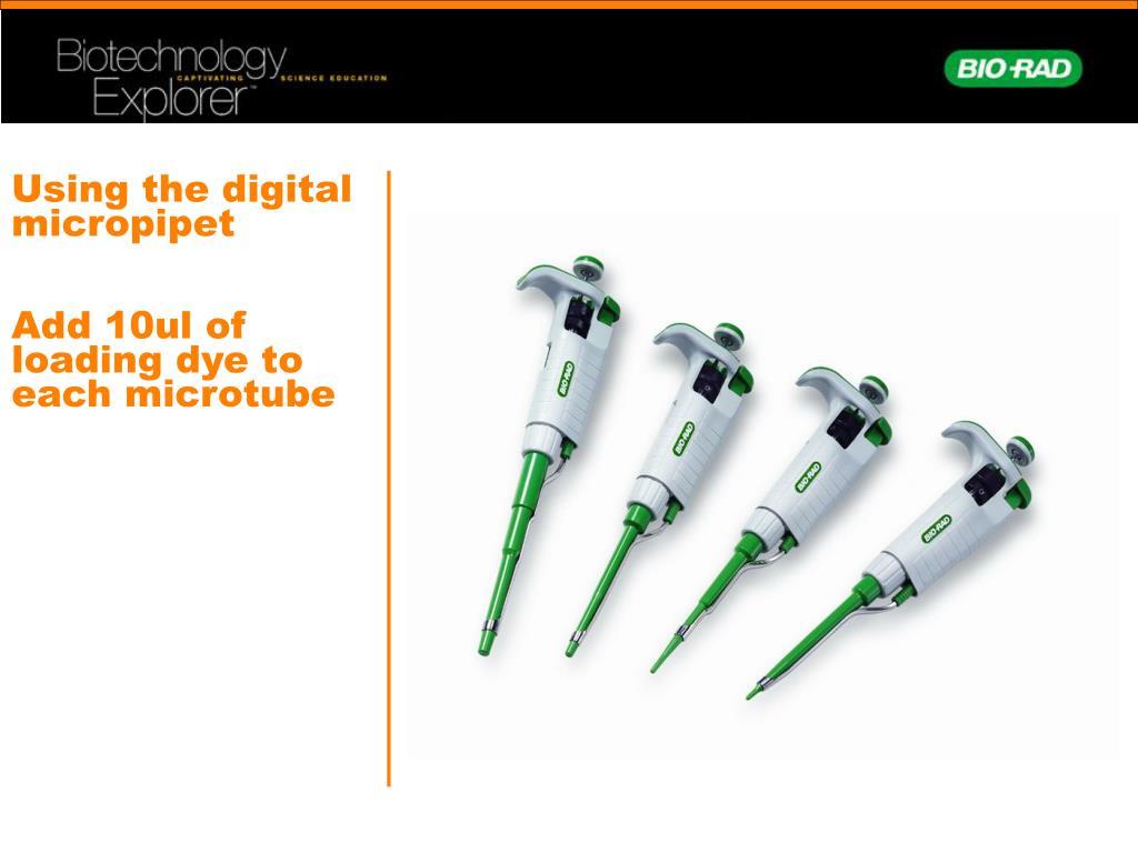 Using the digital micropipet