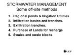stormwater management some off site methods