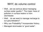 why do volume control5