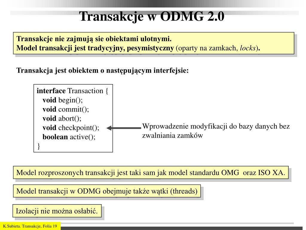Transakcje w ODMG 2.0