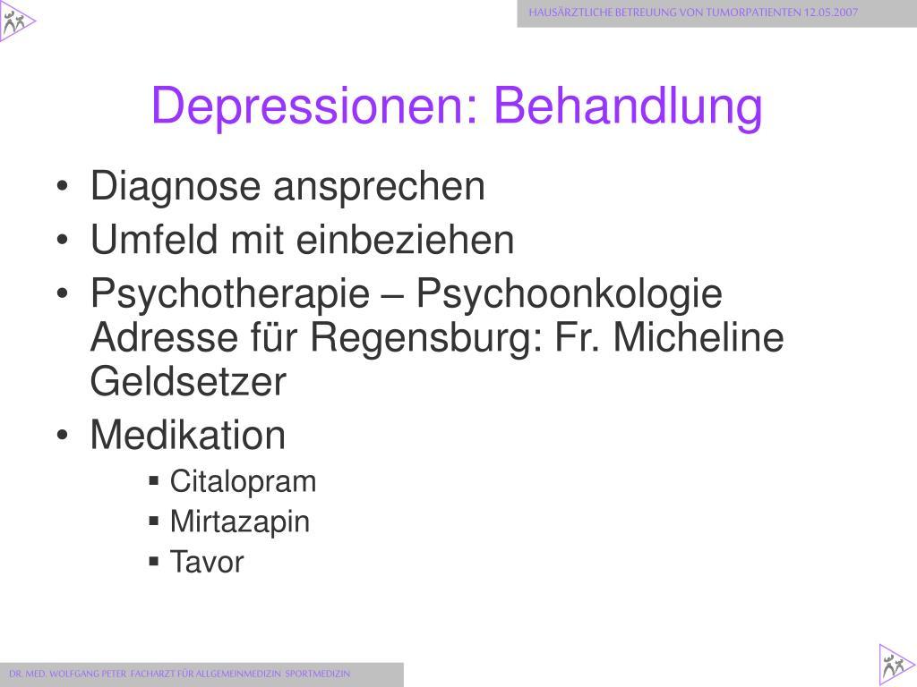 Depressionen: Behandlung