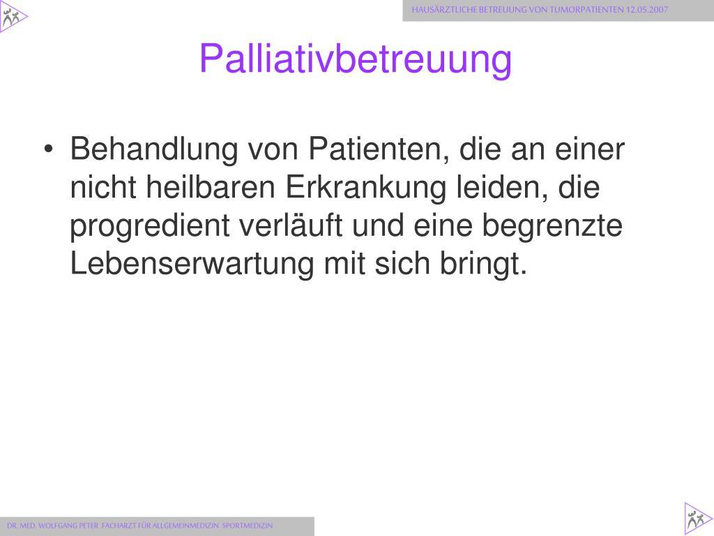 Palliativbetreuung