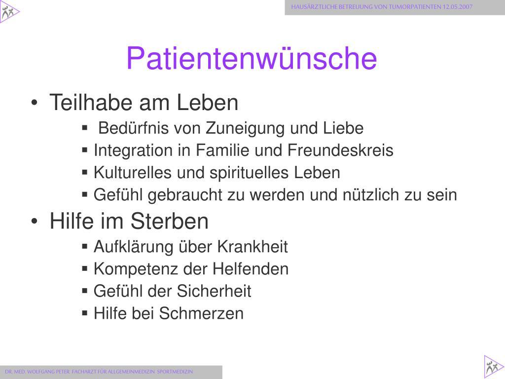 Patientenwünsche