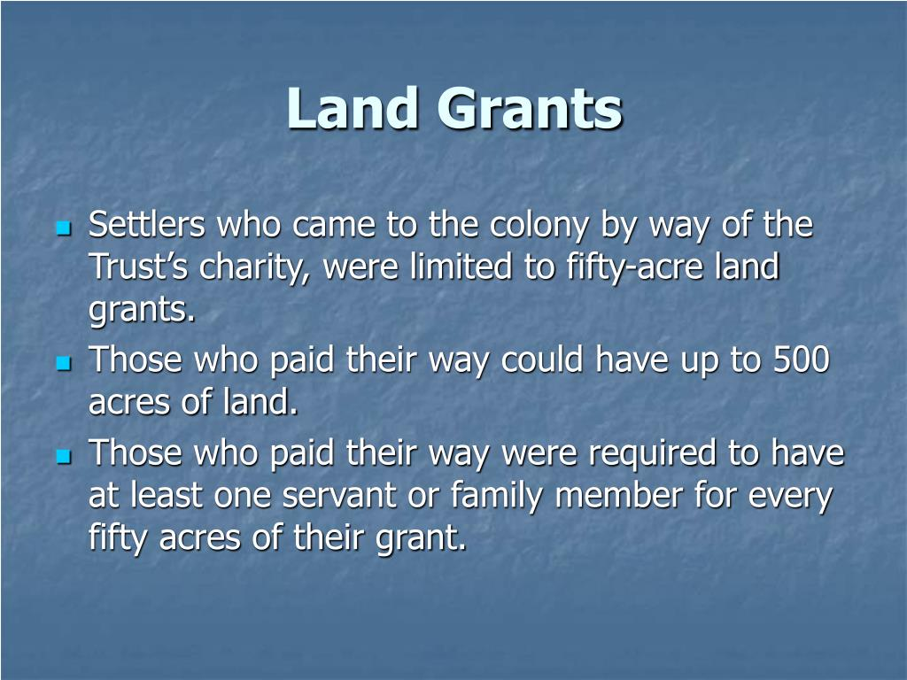 Land Grants