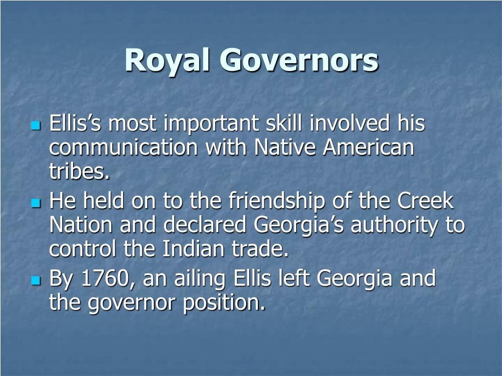 Royal Governors