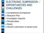 electronic submission opportunities and challenges