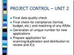 project control unit 2